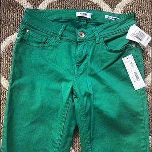 Green denim Kensie jeans.